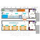 """""""BURAN-2"""" модуль для приема и приготовления пищи (2 модуля по 2,45х8м)"""